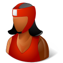 boxer, dark, female, boxing icon
