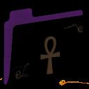 Ankh Empty Folder (purple) icon