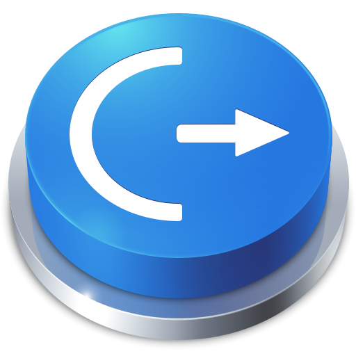 perspective, button, log off icon