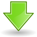 down,descend,download icon