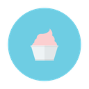 strawberry, ice, cream, dessert, cup icon
