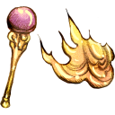 Fire, Staff icon