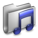 Folder, Metal, Music icon
