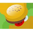 fast food, hamburger, junk food, burger icon