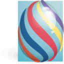 easter, striped, egg icon