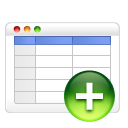 Add, Table icon