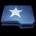 Folder Blue Star icon