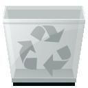 empty, trashcan, blank icon