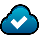 check, sync, tick, cloud, ok icon