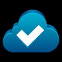 check, sync, tick, cloud, ok icon
