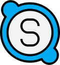 skype, media, social, logo icon