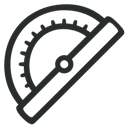 Angle, Outline, Thingy icon