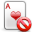 delete, playingcard icon