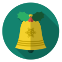 christmas, xmas, sound, holiday, gold, bell icon