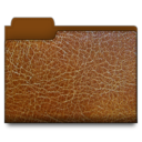 leather,brown,folder icon