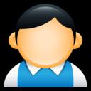 user,preppy,blue icon