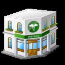 building, pharmacy, medical icon