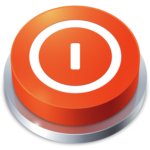 shutdown, perspective, power off, button, turn off icon