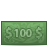 100dollar, Money icon