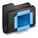 Dropbox Black Folder icon