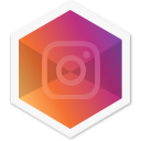 colorful, app, app, insta, hexagon, social, instagram icon