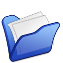 folder blue mydocuments icon