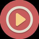 video, movie, play icon