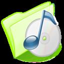dossier,green,musique icon
