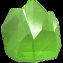 stone, peridot, crown, precious, gem, jewel, green icon