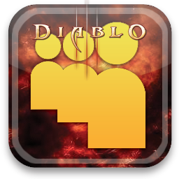 myspace, diablo icon