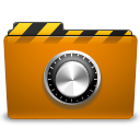 folder, locked, security, orange icon