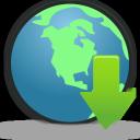 Download, Globe icon