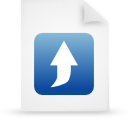 document, file, blue, paper icon