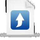 document, file, blue, paper icon