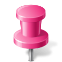 pin, workspace, pink, push, base, marker, map icon