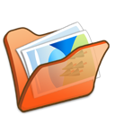 Folder, Mypictures, Orange icon