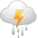 cloud, weather, lightning icon