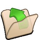folder, parent, beige icon