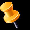 location, needle, gps, needleleftyellow icon