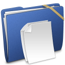 Blue Elastic Documents icon