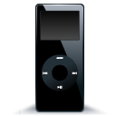 black, nano, mp3 player, ipod icon