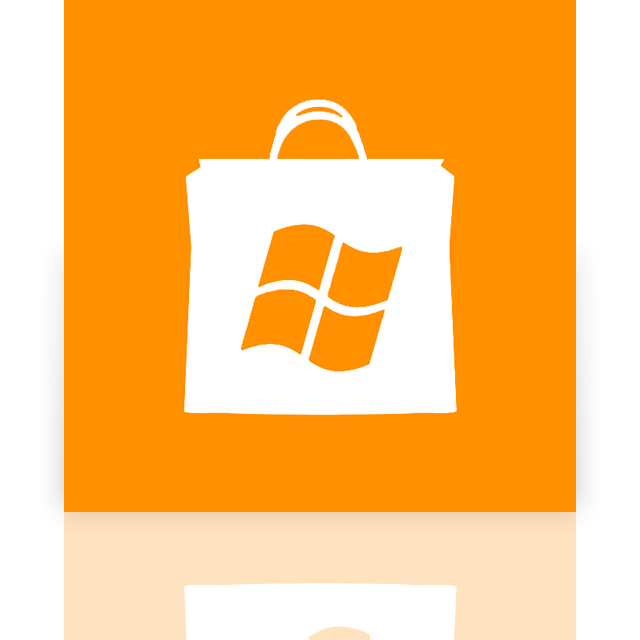 mirror, store, window icon