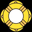 rubber ring, sea, holiday, travel, beach, swim icon