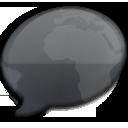 iChat Black World icon