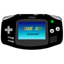 black, advance, gameboy icon