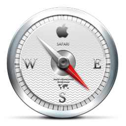 white, safari, browser icon