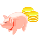 cash, luck, pig, money, coin, currency icon