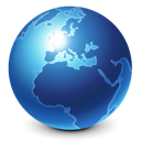 planet, browser, globe, world, earth, global, internet, skull, blue, international icon