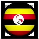 of, uganda, flag icon