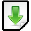 file, arrow, down, download icon